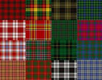 Scottish dress materials in a varity of colours & checks