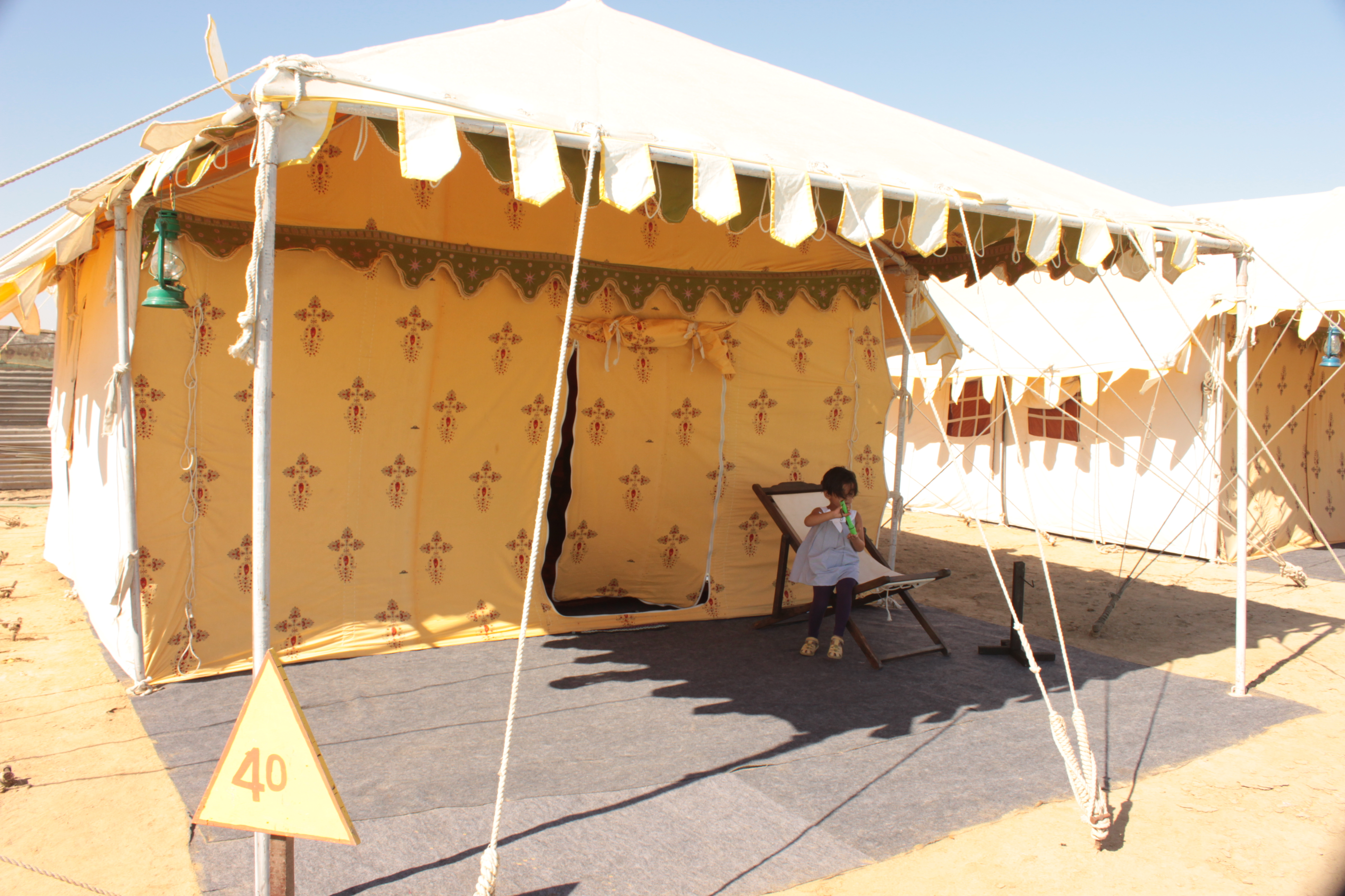 Exploring the tent