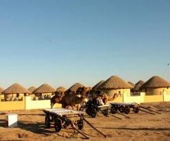 Small clusters of hutments -- #RannUtsav