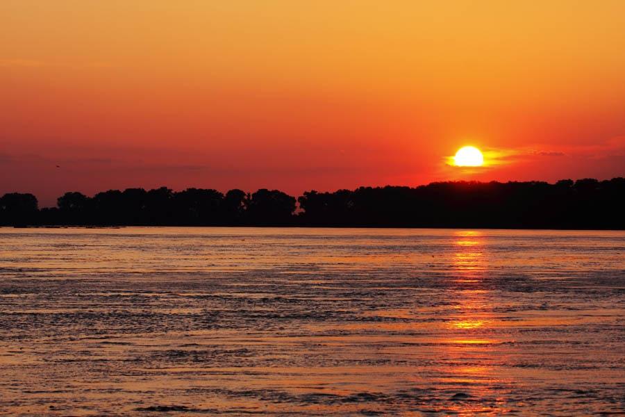 Sunset cruise on the Brahmaputra River, Guwahati